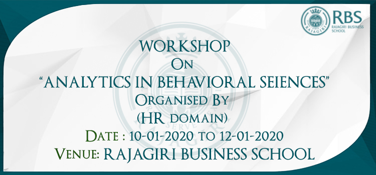 Workshop on Analytics in Behavioral Sciences