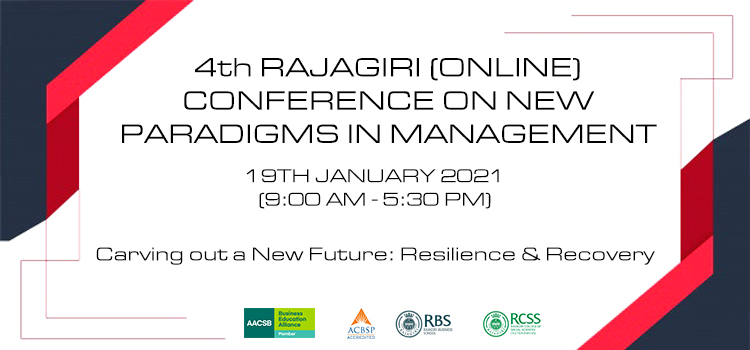 4th RAJAGIRI (ONLINE) CONFERENCE ON NEW PARADIGMS IN MANAGEMENT