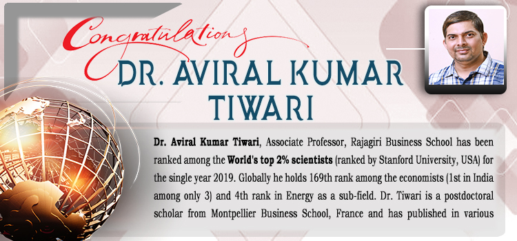 Dr. Aviral Kumar Tiwari: The World's top 2% scientist
