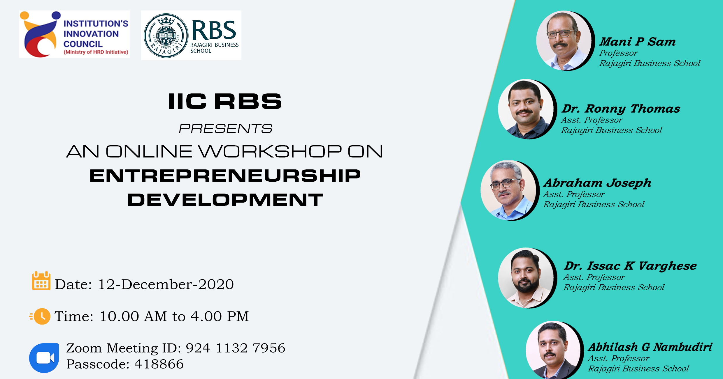 IIC RBS: An Online Workshop on Entrepreneurship Development