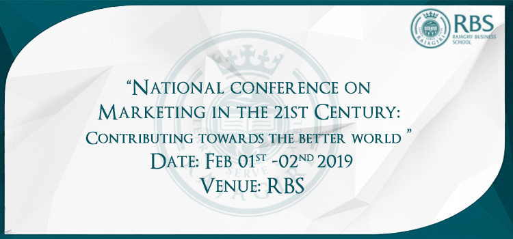National conference on Marketing in the 21st Century: Contributing towards the better world