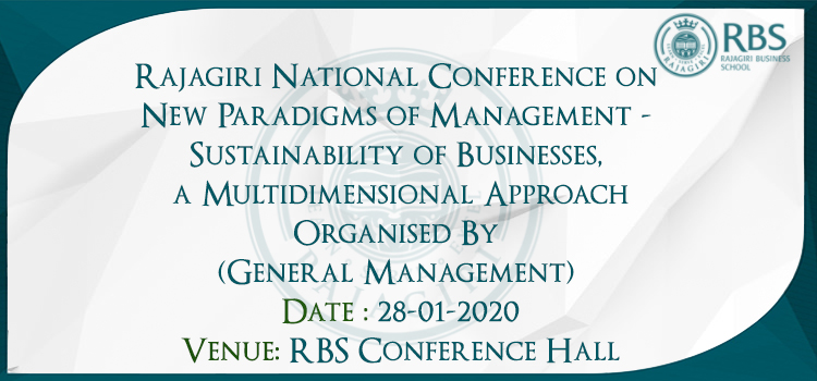 Rajagiri National Conference on New Paradigms of Management